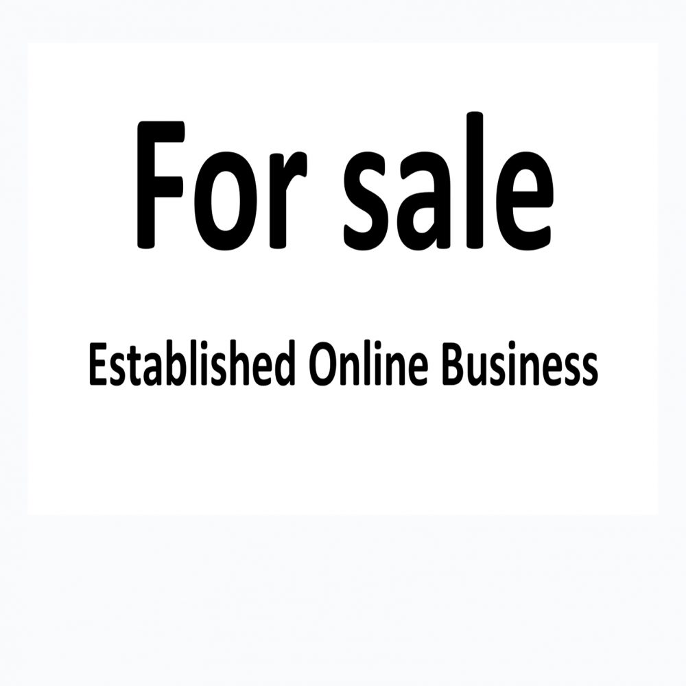 Established Online Business For sale – Family health issues