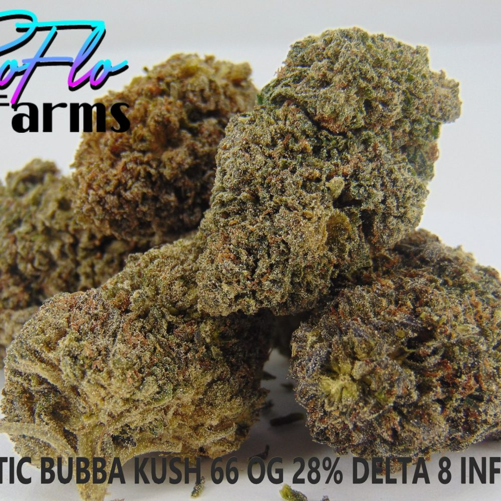 EXOTIC BUBBA KUSH 28% DELTA 8 ICED OUT $650LB