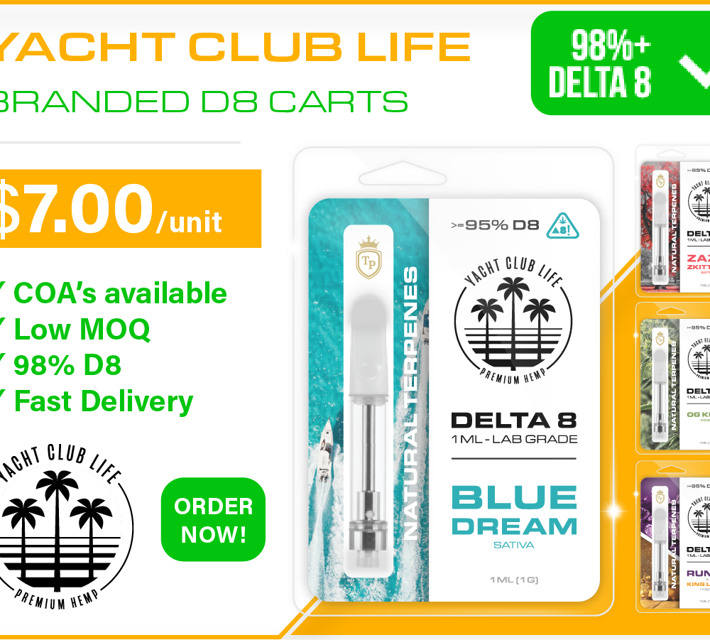 ⭐✅ 98%+ Delta 8 Carts (PRIVATE LABELED or BRANDED) 🏷️ STARTS AT $5/PC LOW MOQ ✅ BRANDING SERVICES⭐