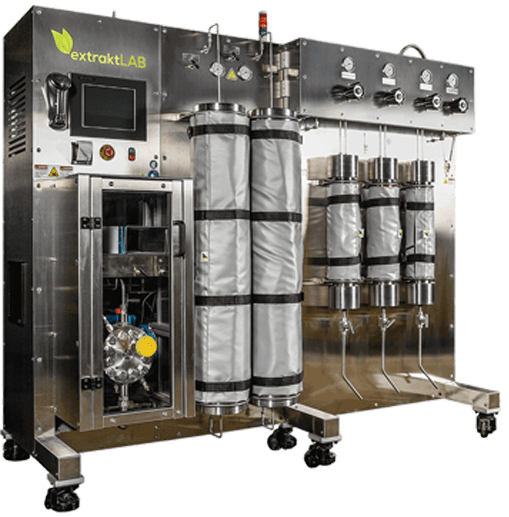 Two ExtraktLab-1 140 Series CO2 Extraction Machines for Sale w/ Polyscience Model DTA504B Chiller