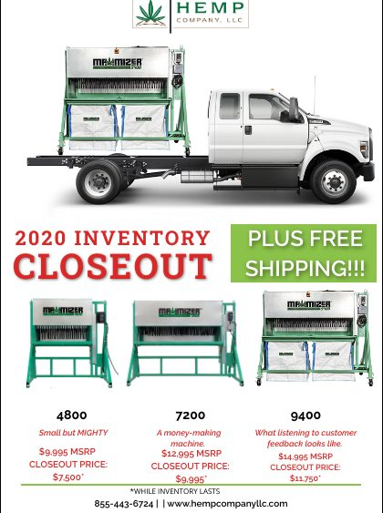 End of Season MAXIMIZER Inventory Closeout SALE!
