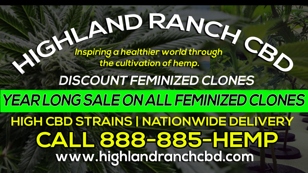 Reserve Your Clones Today | Year Long Discounts | High CBD Strains | Ship Nationwide | 888 885 HEMP