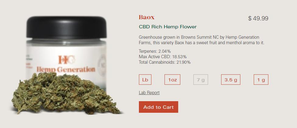 High CBD hemp flower /18.5%/ $349-449 untrimmed/hand trimmed