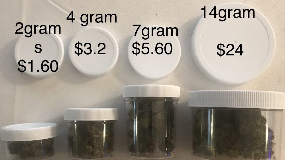 Pre package flower includes jars, shrink bans, label, flower