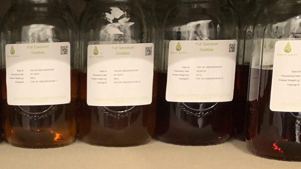 $2700 - Full Spectrum CBD Distillate from Certified Organic Hemp