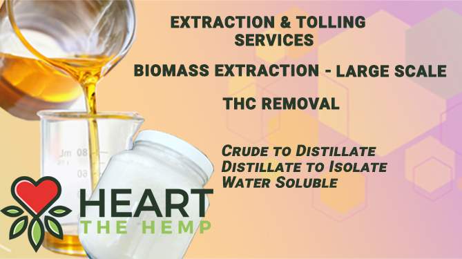THC Removal, Water Soluble, Biomass Extraction, Distillation, Minor Cannabinoids, Bottling