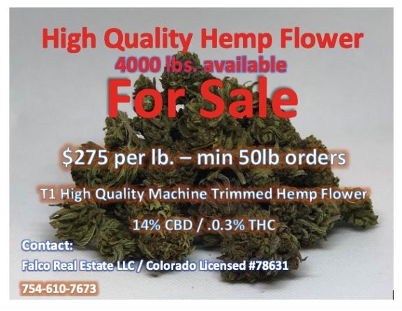 Premium CBD Flower - $275 lb