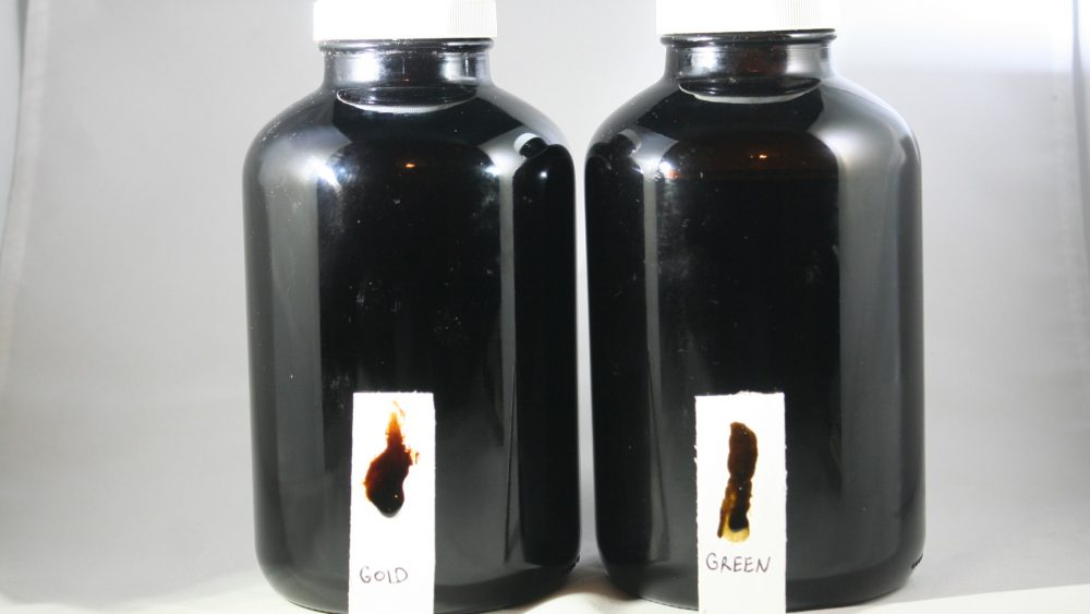 CBD Crude Oil For Sale, Gold, Green and Straight