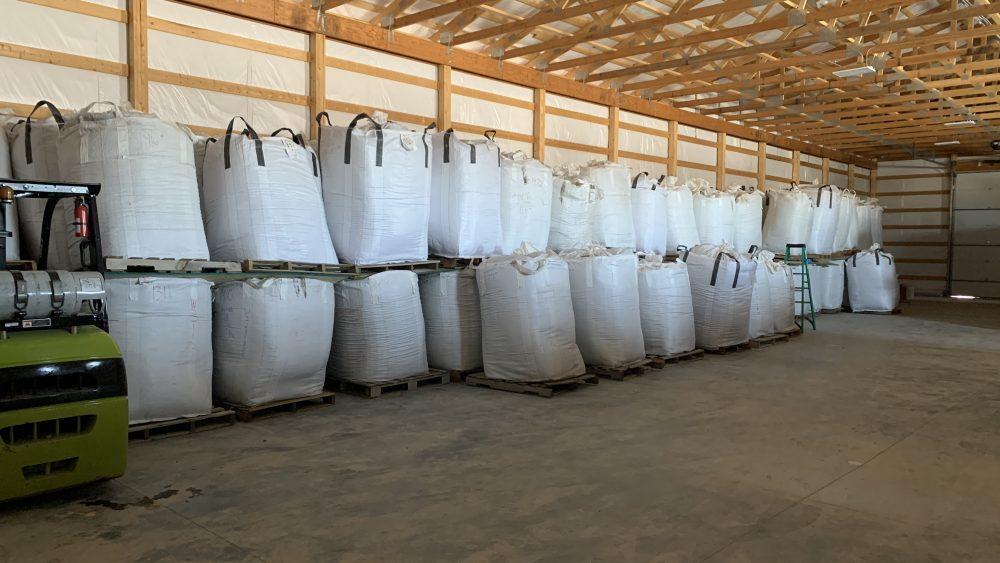 Cherry Wine hemp biomass