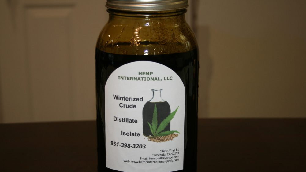 Full Spectrum Winterized Crude CO2 Hemp Extract