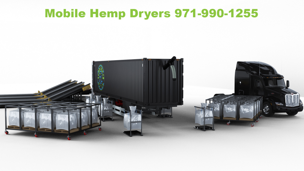 Mobile Hemp Dryer - Up to 75,000 lbs Per Hour