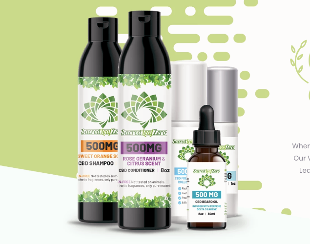 Great Sacred Leaf Zero CBD Products