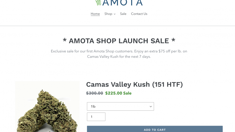 Amotashop.com Launches Most Diverse 2020 Flower Inventory In Oregon Register Now *USE CODE: BC2020