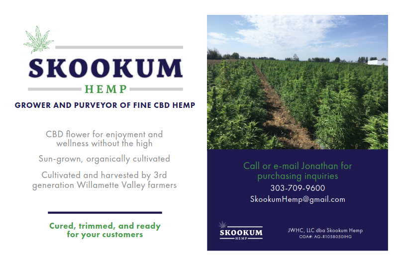 Sun-grown Oregon hemp flower - Skookum Hemp
