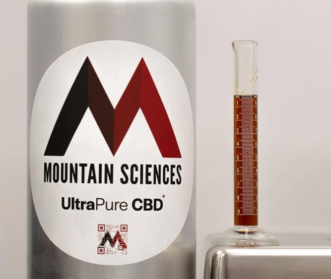 Mountain Sciences UltraPure CBD T Free Distillate @$999.00kg and CBD Isolate @ 600.00kg