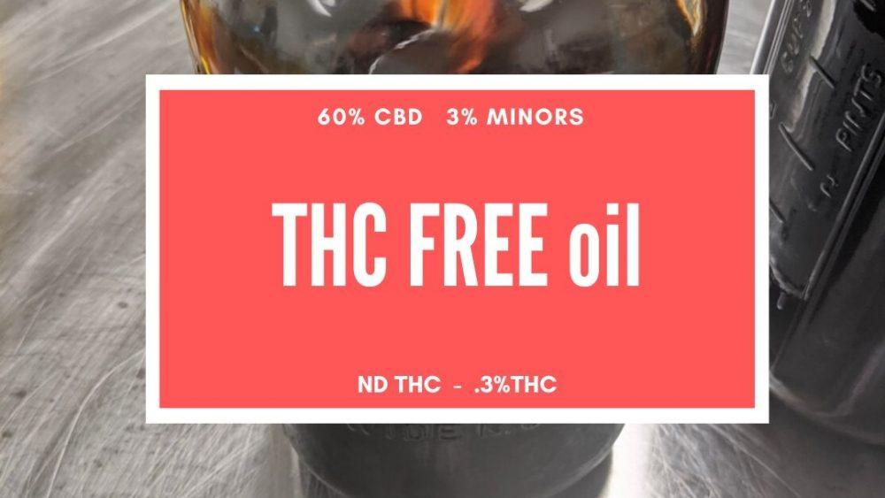 $989- T-FREE CBD OIL  60% -  3% MINORS